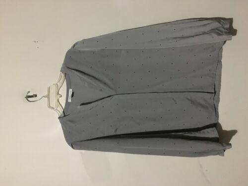 camice Donna Top stonato L Elegante Taglia Liz grigio in Claiborne 4Utq0t