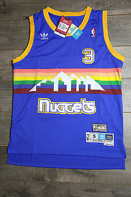 new concept ab8f1 39826 Allen Iverson #3 Denver Nuggets Jersey Retro Swingman Basketball Vintage  New Men   eBay