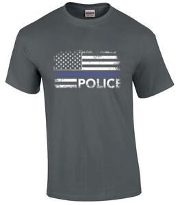 Police Logo T shirt Custom City Law Enforcement Long and Short Sleeves Gildan