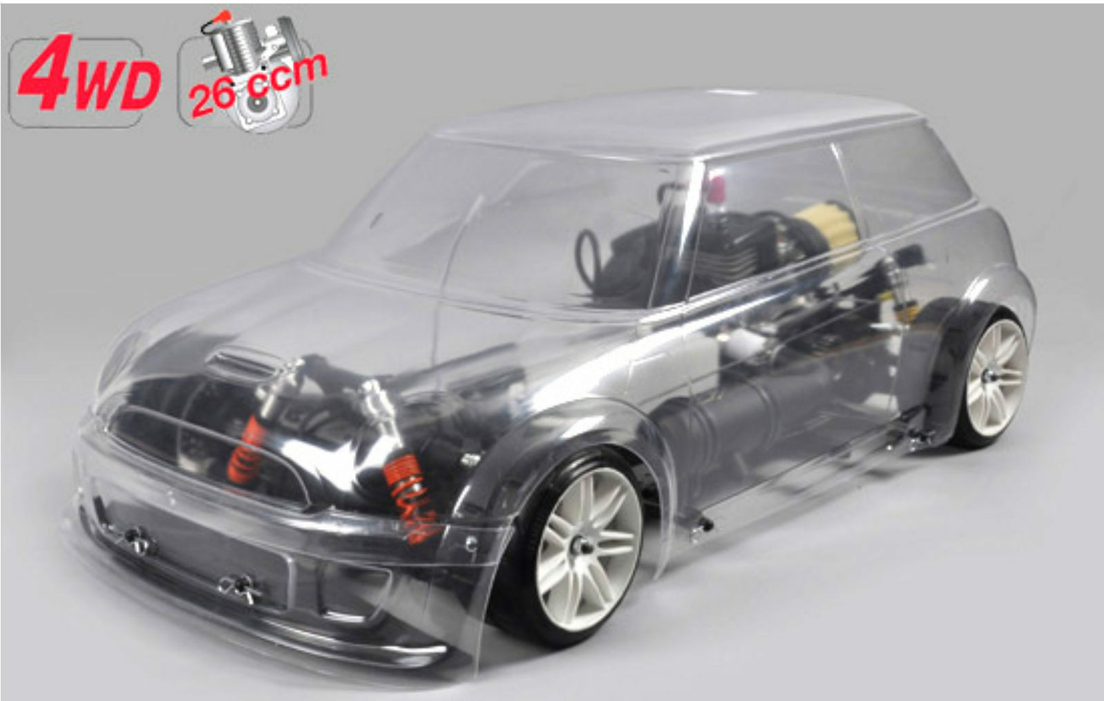 FG Modellsport   155180 4wd 510 telaio FG Trophy carrozzeria verniciate 26 CC