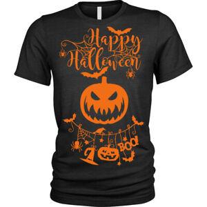 Happy-Halloween-T-Shirt-Zucca-Inquietante-Unisex-da-Uomo