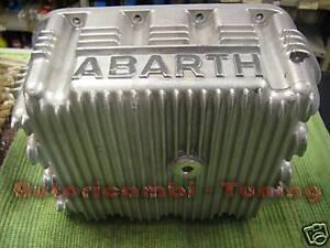 """COPPA OLIO """"ABARTH"""" IN ALLUMINIO PER  FIAT 500 126 MAGGIORATA 4 LITRI"""
