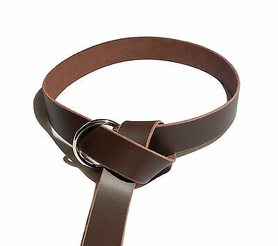 Medieval Ring Belt from Quality Leather with Steel Ring