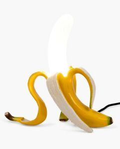 Seletti-Resin-amp-Glass-Dimmable-Louie-Banana-LED-Table-Lamp-Yellow-B