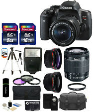 Canon EOS Rebel T6i DSLR Camera + EF-S 18-55mm IS STM Lens + 24GB Deluxe Bundle