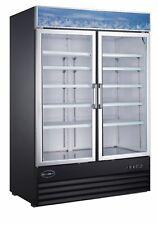 Saba 45 Cu Ft Commercial Merchandiser Refrigerator Display Case 2 Glass Doors