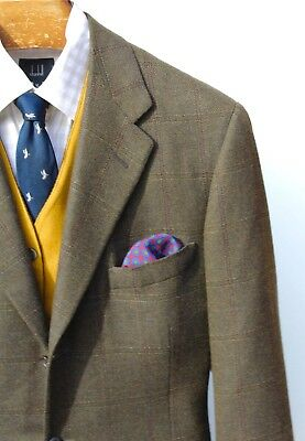 Oxxford Clothes 44R Dark Green Check 3-Roll/2 Wool & Cashmere Blazer - $3,495.00