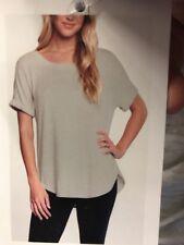 Matty M Womens Roll Cuff Short Sleeve Tunic Shirt Top Choose Color Size S-XL