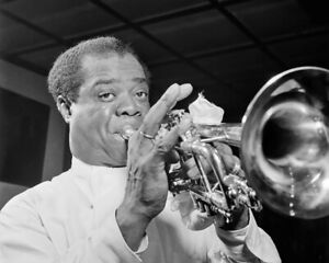 Jazz-Trumpeter-LOUIS-ARMSTRONG-Glossy-8x10-Photo-Music-Print-Composer-Poster