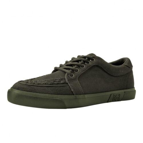 A9264 New Vegan Men Shoes Green Canvas Gum Sole Creeper Sneaker Skater T.U.K