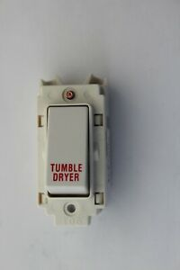 7354 20 TD Legrand Synergy Etched Grid Switch Tumble Dryer