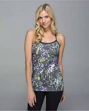 NWT $52 LULULEMON 8 POWER Y TANK FLORAL SUPPORT B C CUP RACERBACK WORKOUT YOGA