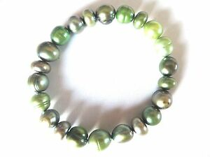 Honora-Cultured-Green-Color-Pearls-Stretch-Bracelet