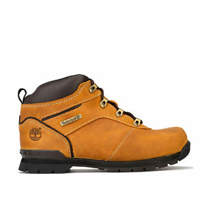 Junior-Boys-Timberland-Splitrock-2-Boots-In-Wheat-Lace-Fastening-Padded-Collar