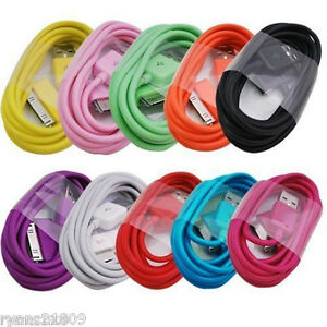 lot 10 x color usb data charging cable cord for iphone 4s. Black Bedroom Furniture Sets. Home Design Ideas
