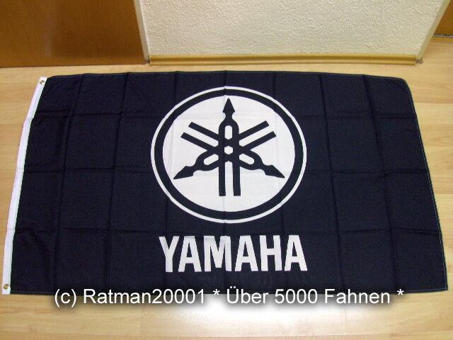 Fahnen Flagge Yamaha Schwarz - 90 x 150 cm