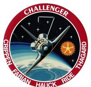 Autocollant Juin 1983 Mission Sts-7 Challenger Dnjoswyg-08004503-408393068