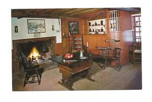 SUNBURY-MA-Longfellow-039-s-Wayside-Inn-Old-Bar-Room-Vtg-PC-Postcard