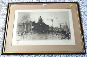 FRED-W-GOOLDEN-MANCHESTER-THE-OLD-ROYAL-INFIRMARY-Etching-Signed-1909