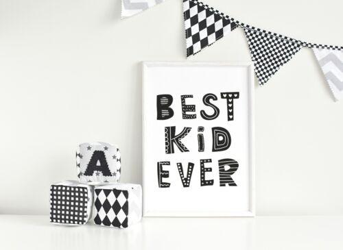 Scandinavian style Monochrome Nursery Print