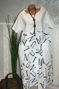 It Kleid Sommerkleid WEIß Tunika Oversize Strandkleid ...
