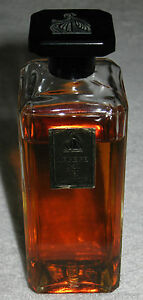 "3/4 Full 5"" Height In Short Supply Vintage Jeanne Lanvin Arpege Perfume Bottle 4 Oz Open"