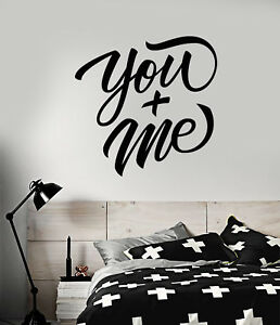 Vinyl Wall Decal Romantic Quote Words You Me Bedroom Decor Stickers 2389ig Ebay