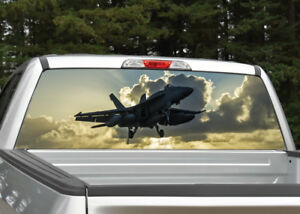 Truck Back Window Decals >> Details About Fighter Jet 2 Navy Military Sunset Rear Window Decal Graphic For Truck Suv