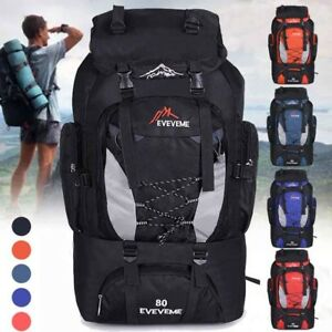 c3d13f027e3 Details about 80L Outdoor Waterproof backpack Camping Large Capacity Bag  Hiking Rucksacks