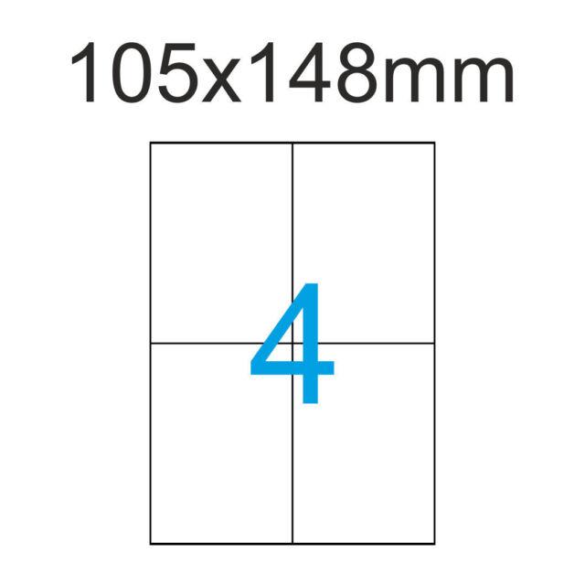 DIN A6 Etiketten 105x148 mm 40 Stück 10 Blatt A4 105x148 Luma Versandaufkleber