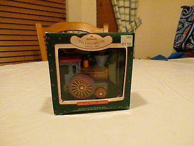 RARE ornament Hallmark Tin Locomotive train piece 1988 keepsake Christmas BOX