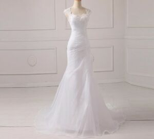 b72a0a1053 Image is loading Mermaid-Style-Wedding-Dresses-For-Bride-With-Pleat-
