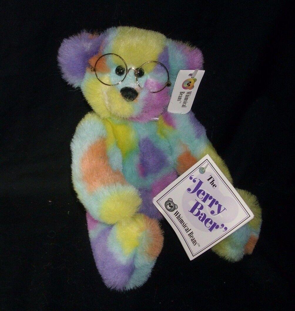12  JERRY BAER WHIMSICAL BEANS CANCER TEDDY BEAR STUFFED ANIMAL PLUSH TOY W  TAG