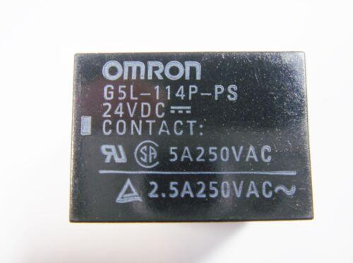 Relé 24v 1xum 250v 5a omron g5l-114p-ps #13 R 89 d/%