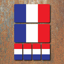 French France Flag Laminated Sticker Set Small Car Motorcycle Mountain Bike