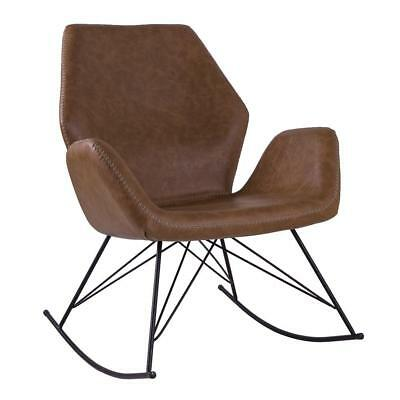 Modern Unique Accent Chairs.Bryce Designer Leather Rocking Chair Unique Seat Modern Pu Leather Chair 5056082707943 Ebay