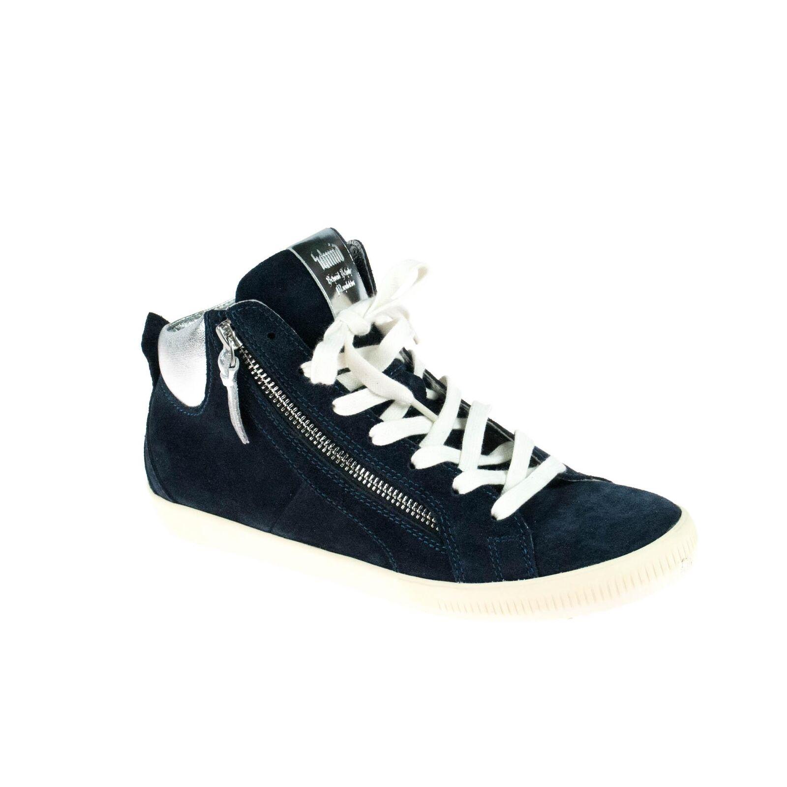 Los últimos zapatos de descuento para hombres y mujeres Peter Schmid cortos señora mid serraje azul plata