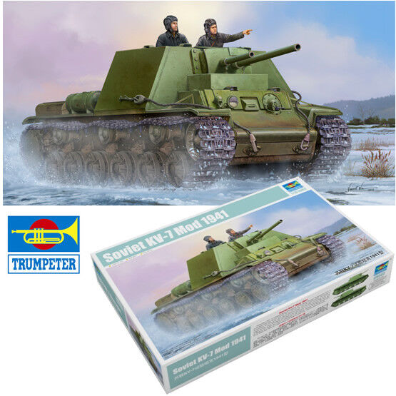 Trumpeter 1 35 Russian KV-7 Mod 1941 Model Kit