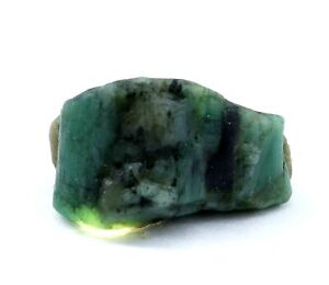 Untreated 35 Ct Natural Green Emerald Colombia AGSL Certified Loose Rough