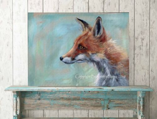 FINE ART//GICLEE PRINT WALL ART WILDLIFE PAINTING ANIMAL PICTURE FOX