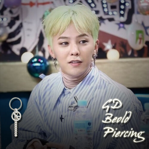 BIGBANG GDragon GD beold Piercing /& CLIP ON NON PIERCING Made in Korea 1 pièce