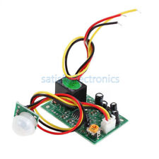 12v Pir Ir Pyroelectric Infrared Module Adjustable Relay Output Sensor New