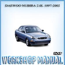 daewoo nubira 2 0l 1997 2002 workshop service repair manual dvd ebay rh ebay com au daewoo nubira repair manual pdf daewoo lanos service manual