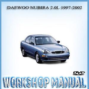 daewoo nubira 2 0l 1997 2002 workshop service repair manual in disc rh ebay com au Daewoo Lanos Daewoo Lanos