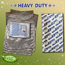 5 6 Gallon Mylar Pro Bags 20x30 + 2000CC Oxygen Absorbers Long Term Food Storage