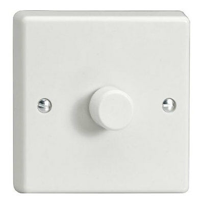 Led Dimmer Switch 400w Turn On Off For Lighting Circuits White Plastic Goederen Van Hoge Kwaliteit