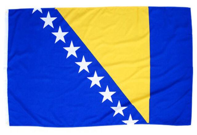 Fahne Bosnien Herzegowina Querformat 90 x 150 cm Hiss Flagge Nationalflagge