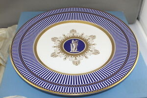 Wedgwood-Anthemion-Accent-Salad-Plate-23cm-9-034-Blue-Made-in-England