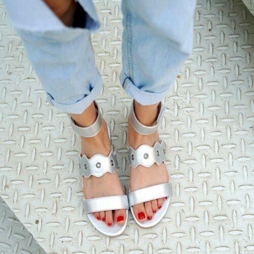 Casual Femmes Sandales Bout Ouvert étudiant été Plage Plates Chaussures Taille Plus US4-14