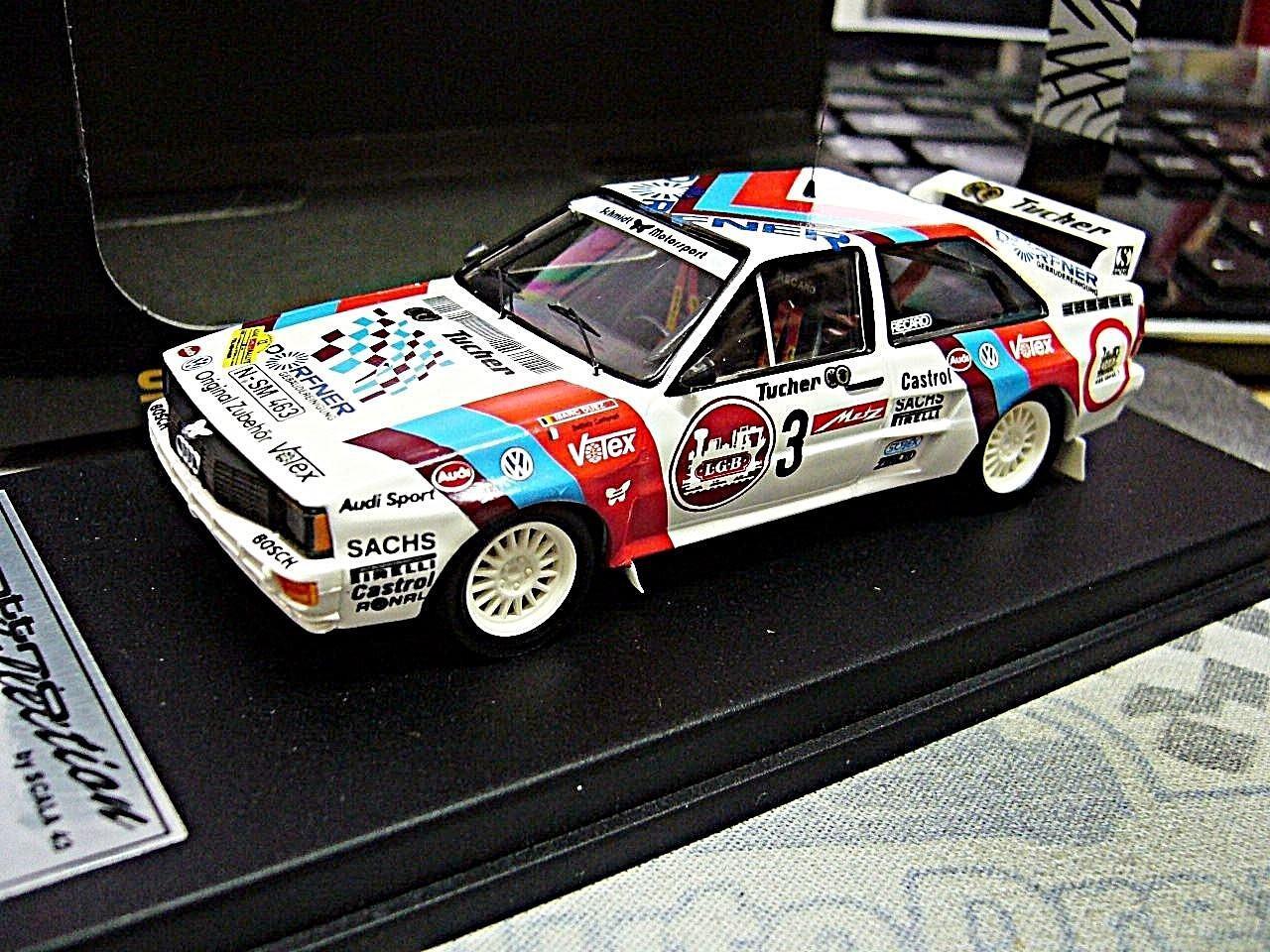 AUDI quattro rallye Duez Metz rallye 1985 sms DRM Limited 1 250 scala 43 1 43